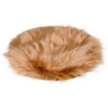 Cosy @ Home Trivet Fur Beige D35xh1cm Polyester