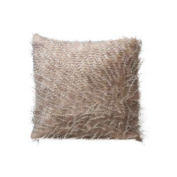 Cosy @ Home Cushion Feathers Beige 45x45xh10cm Polye