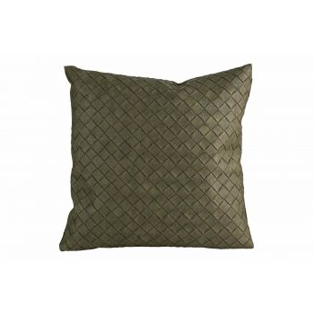 Cosy @ Home Cushion Leatherlook Green 40x10xh40cm Po