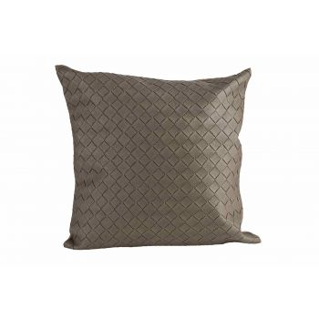 Cosy @ Home Cushion Leatherlook Taupe 40x10xh40cm Po