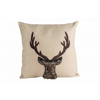 Cosy @ Home Cushion Deer Nature 45x10xh45cm Polyeste