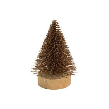Cosy @ Home Xmas Tree Glitter Copper 5,5x5,5xh8cm Sy