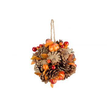 Cosy @ Home Indien Ball Pumpkins Orange D13cm Wood