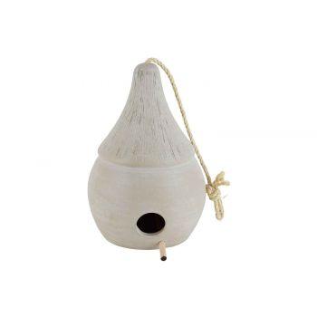 Cosy @ Home Birdhouse Hanger Beige 20x20xh27cm Elong