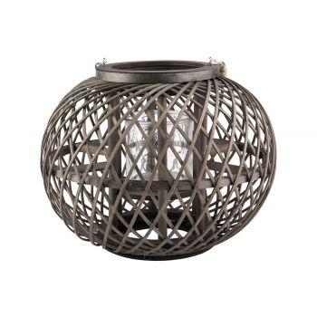Cosy @ Home Lantern Dark Green 32x32xh26cm Round Woo