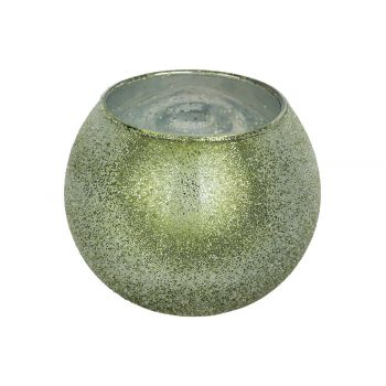 Cosy @ Home Tealight Holder Sugar Green D11xh10cm Gl