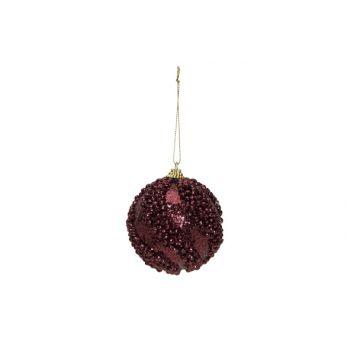 Cosy @ Home Xmas Ball Glitter Balls Eggplant D8cm Sy