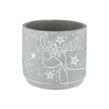 Cosy @ Home Flowerpot Rudolph Grey 13x13xh12cm Cemen