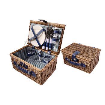 Cosy & Trendy Picnic Basket 2p Brown 33x23x16cm Cutler