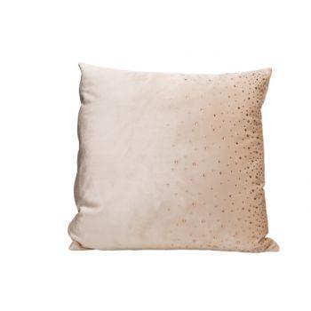 Cosy @ Home Cushion Strass Cream 45x45xh10cm Velvet