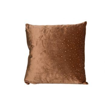 Cosy @ Home Cushion Strass Caramel 45x45xh10cm Velve