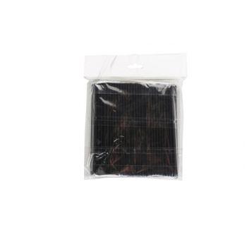 Cosy & Trendy Straw Set200 Pla Black D0,4 X L14cm