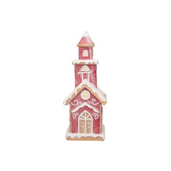 Cosy @ Home Cookies House Red 11x8xh22cm Resine