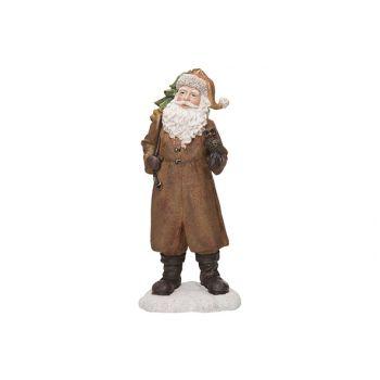 Cosy @ Home Weihnachtsmann Brown 17x12xh38cm Resine
