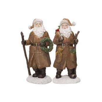 Cosy @ Home Weihnachtsmann 2 Types Brown 9x7xh21cm Cera