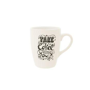 Cosy & Trendy Take Coffee With You Mug D8,3xh11cm
