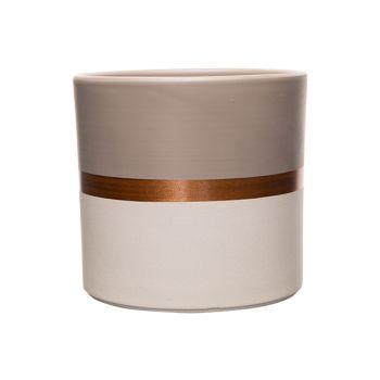 Cosy @ Home Flowerpot Duo Color Taupe-white Copper L