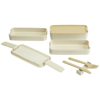 Cosy & Trendy Eco-fibre 3-layers Lunchbox White Knife