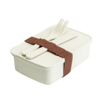 Cosy & Trendy Eco-fibre Lunchbox Fork Knife White