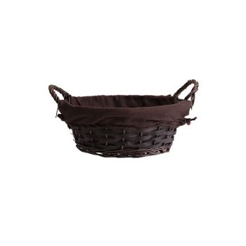 Cosy & Trendy Basket Willow Brown Ro W. Fabric And