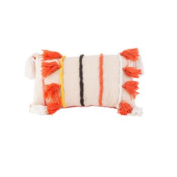 Cosy @ Home Cushion Flosh Orange Beige 50x7,5xh30cm