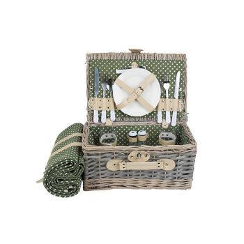 Cosy & Trendy Picnic Basket Oval 2 Pers.  Cutlery