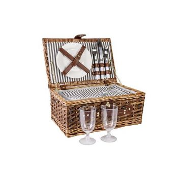 Cosy & Trendy Picnic Basket 2p Brown 38x25xh16cm Recta