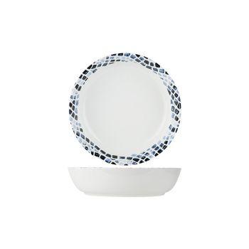 Cosy & Trendy Mosaic Blue Pasta Plate D21,5xh5,3cm
