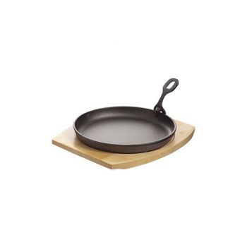 Cosy & Trendy Cast Iron Plate 22cm On Wooden B Coated