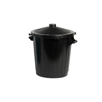 Cosy & Trendy Waste Bin With Lid Black 50l 55x49xh58cm