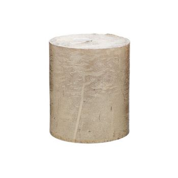 Cosy & Trendy Rustic Candle Cylindre Metallic Gold 8cm