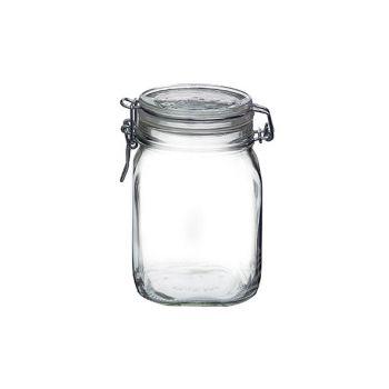 Bormioli Fido Jar With Clips 75cl Set6 D10,6cm