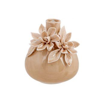 Cosy @ Home Vase Flowers Pink 9x9xh10cm Ceramic