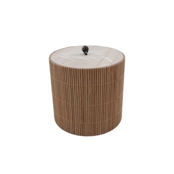 Cosy @ Home Box Brown 11,8x11,8xh12cm Round Wood