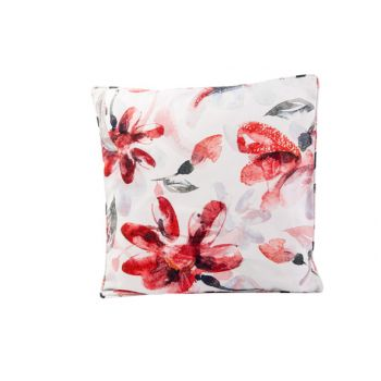 Cosy @ Home Cushion Pink Flowers White 45x45xh10cm P