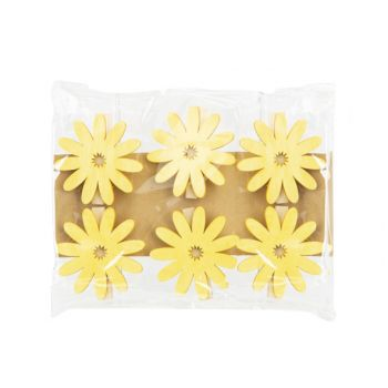 Cosy @ Home Clip Set6 Sunflower Yellow 6x,5xh6cm Woo