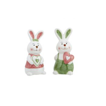 Cosy @ Home Rabbit Ass2 Heart Pink-green Pink 5x5,2x