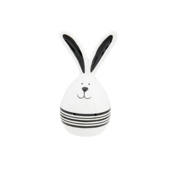 Cosy @ Home Egg Rabbit Ears Black Declined White 6,5