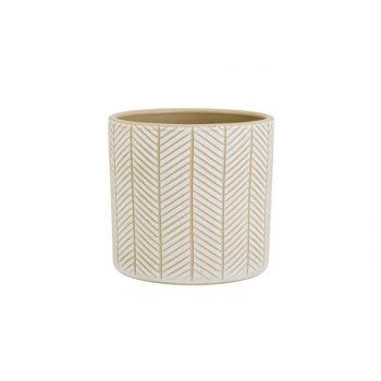 Cosy @ Home Flowerpot Sand 13,5x13,5xh13cm Cylindric