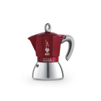 Bialetti New Moka Induction Coffeemaker Red 6t