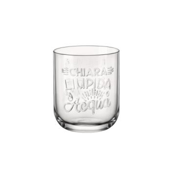 Bormioli Graphica Water Glass 39,5cl D8,2xh10cm
