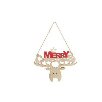 Cosy @ Home Hanger Merry Christmas  Red 29x1xh24cm W