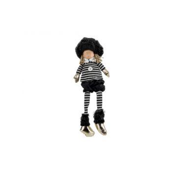 Cosy @ Home Winter Child Remi Sitting Black 17x10xh4