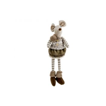 Cosy @ Home Figure Mouse Girl Brown 17x14xh50cm Text
