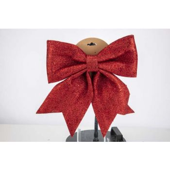 Cosy @ Home Bow Glitter Red 30x35cm Synthetic