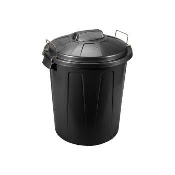 Hega Hogar Bin Black 100l D50xh76cm Poly Propyleen