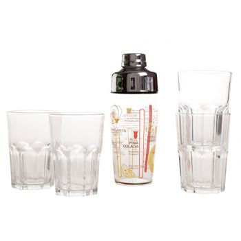 Luminarc Samba Shaker 58cl+4 Glasses Mojito 40cl