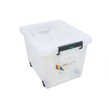 Araven Storage Tray 60liter With Cover Transp