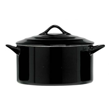 Cosy & Trendy Black Casserole With Lid 1l D17xh8cm