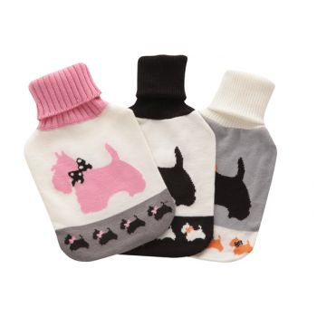 Cosy & Trendy Hot Water Bottle 2l W. Dog Cover 3 Types